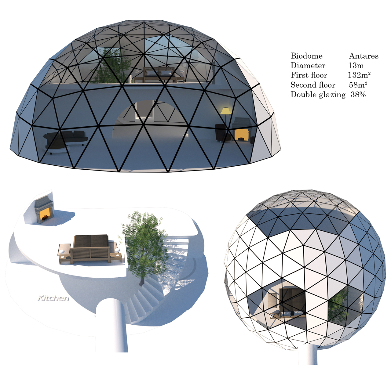 Dome House Futuristic: Glass Geodesic Domes, Modern Sustainable Homes