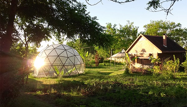 Pollux Dome, 5m diameter, build as a greenhouse for exotic plants