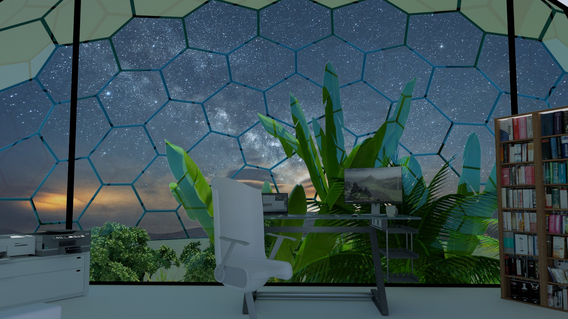 Dome House Ceti - Eco Dome Home Biodome with partial double glazing and SIPs