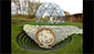 Glass metal sustainable geodesic dome homes eco house